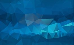 Blue Light Polygonal Low polygon Triangle Pattern Background. Eps.10 Stock Images