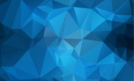 Blue Light Polygonal Low polygon Triangle Pattern Background. Eps.10 Royalty Free Stock Photos