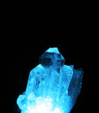Blue light in Quartz Royalty Free Stock Image