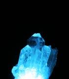 Blue light in Quartz. Blue light within a Quartz crystal royalty free stock image