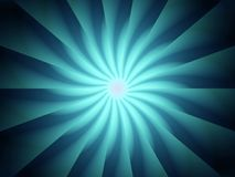 Blue Light Rays Spiral Pattern Stock Image