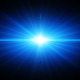 Blue light in space Royalty Free Stock Photography