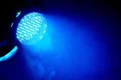 Blue light on a stage at a concert. Royalty Free Stock Images