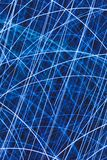 Light striped trails with chaotic movements. Blue light striped trails with chaotic movements Royalty Free Stock Images