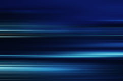 Blue light and stripes moving fast Royalty Free Stock Photos