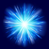 Blue light sunburst background. Royalty Free Stock Image