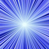 Blue light tunnel Royalty Free Stock Photo