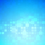 Blue and light turquoise glowing rounded tiles background royalty free illustration