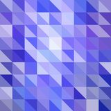 Blue-light vector triangle. Creative illustration in polygonal style, origami style. Design for business, science stock illustration