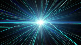 Blue light warp loop background. A 10 second loop of abstract light warping with core light in center stock footage