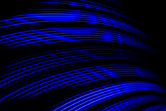 Blue Light Wave. A blue light wave, created with a hoop, rgb led strip and a fisheye lens Stock Images