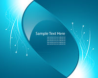 Blue light wave vector background Royalty Free Stock Photo