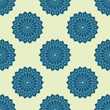 Blue and light yellow seamless pattern Royalty Free Stock Photos