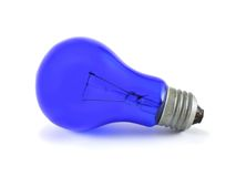 Blue lightblub Royalty Free Stock Images