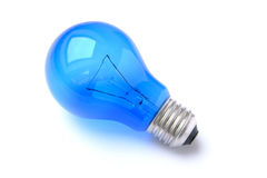 Blue lightbulb Royalty Free Stock Image