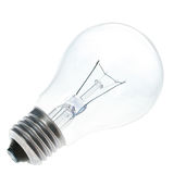 Blue lightbulb isolated. On white [with clipping path Royalty Free Stock Image