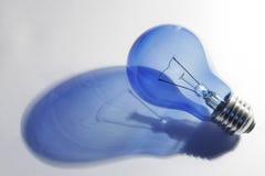Blue Lightbulb Shadow Stock Photo