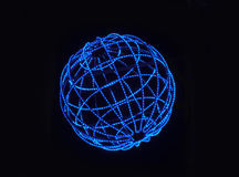 Blue lighted sphere Royalty Free Stock Photo