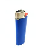 Blue lighter. A blue lighter on a white background Royalty Free Stock Image