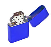 Blue lighter isolated on white Royalty Free Stock Image