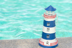 Blue lighthouse Stock Photography