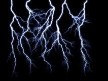 Blue lightning vector illustration