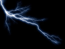 Blue lightning. Computer generated blue lightning bolt Royalty Free Stock Photo