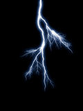 Blue lightning Stock Photos