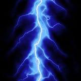Blue lightning. Bolt over black Stock Image