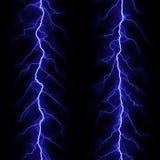 Blue lightning Stock Image
