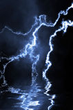 Blue lightning Royalty Free Stock Photo