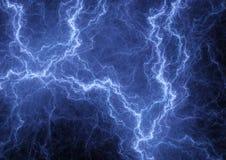 Blue lightning background Stock Photo