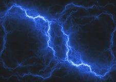 Blue lightning bolt,. Abstract fractal storm Stock Images