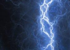 Blue lightning bolt. Plasma energy background Stock Photos