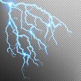 Blue lightning effect. EPS 10 Stock Photo