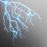 Blue lightning effect. EPS 10 Stock Photo