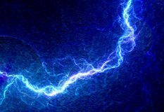 Blue lightning Stock Photography