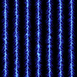 Blue lightning pattern. That tiles seamless in all directions Royalty Free Stock Photos