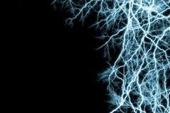 Blue lightnings Stock Photos