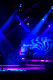 Blue Lights. Stage blue lights Lights and patterns with musical instruments royalty free stock images