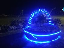 blue lights Στοκ Φωτογραφίες