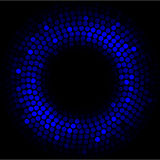 Blue lights - abstract circle Royalty Free Stock Photo