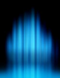 Blue lights blur. Blue blurred lights forming speed and motion background Stock Images