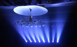 Blue lights on concert Royalty Free Stock Photos