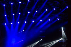 Blue lights at a concert Royalty Free Stock Photos