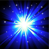 Blue Lights Explosions background Royalty Free Stock Photo