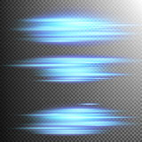 Blue lights lines effect Lens. EPS 10. Set of 3 Blue lights lines effect Lens on transparent background. EPS 10 vector file included Royalty Free Stock Image
