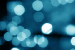 Blue lights out of focus Royalty Free Stock Images