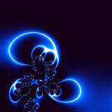 blue lights plant Στοκ Εικόνες