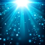 Blue lights shining with sprinkles. Illustration Of Blue lights shining with sprinkles Royalty Free Stock Photos
